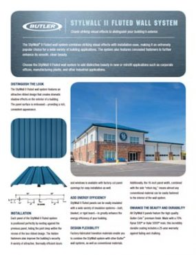Stylwall® II Fluted Wall System