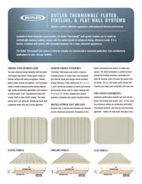 BUTLER THERMAWALL™ FLUTED, FINELINE, & FLAT WALL SYSTEMS